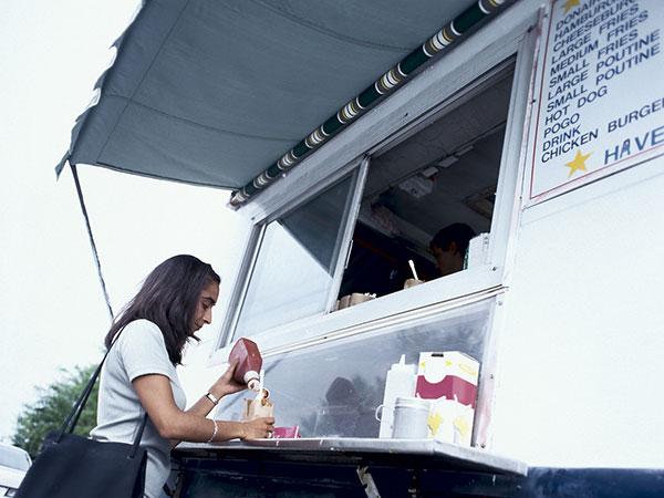 woman food truck