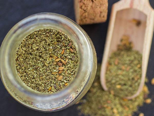 zaatar spice jar