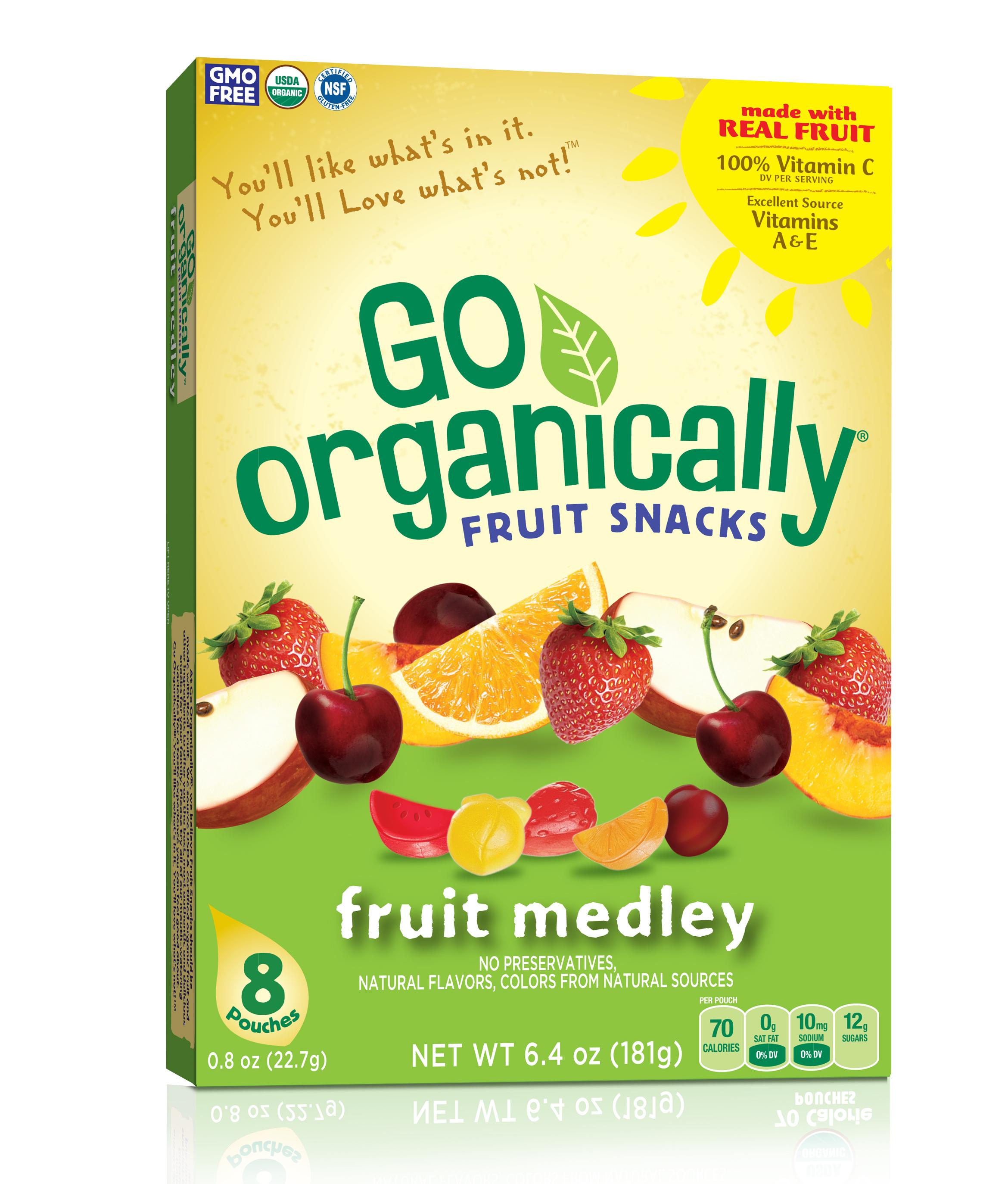 Farmer's Choice Food Brands Introduces Go Organically Fruit Snacks