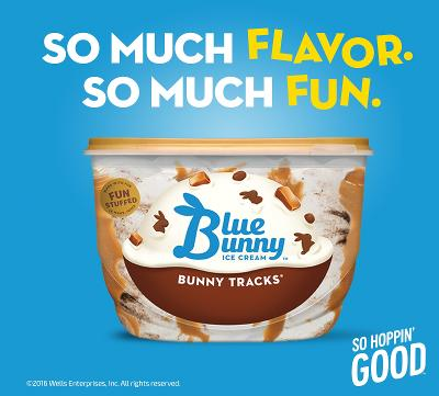 Admirable Blue Bunny Ice Cream Re Launches With New Products And Packaging Funny Birthday Cards Online Aeocydamsfinfo