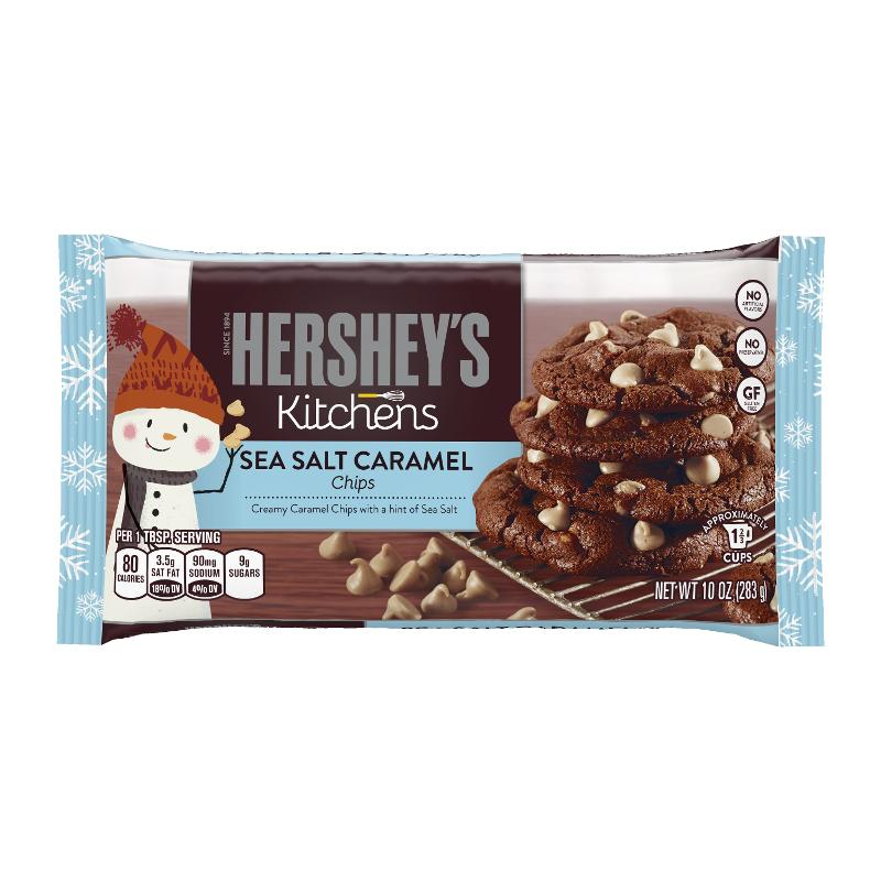 Hershey\'s Kitchens Launches Sea Salt Caramel Baking Chips