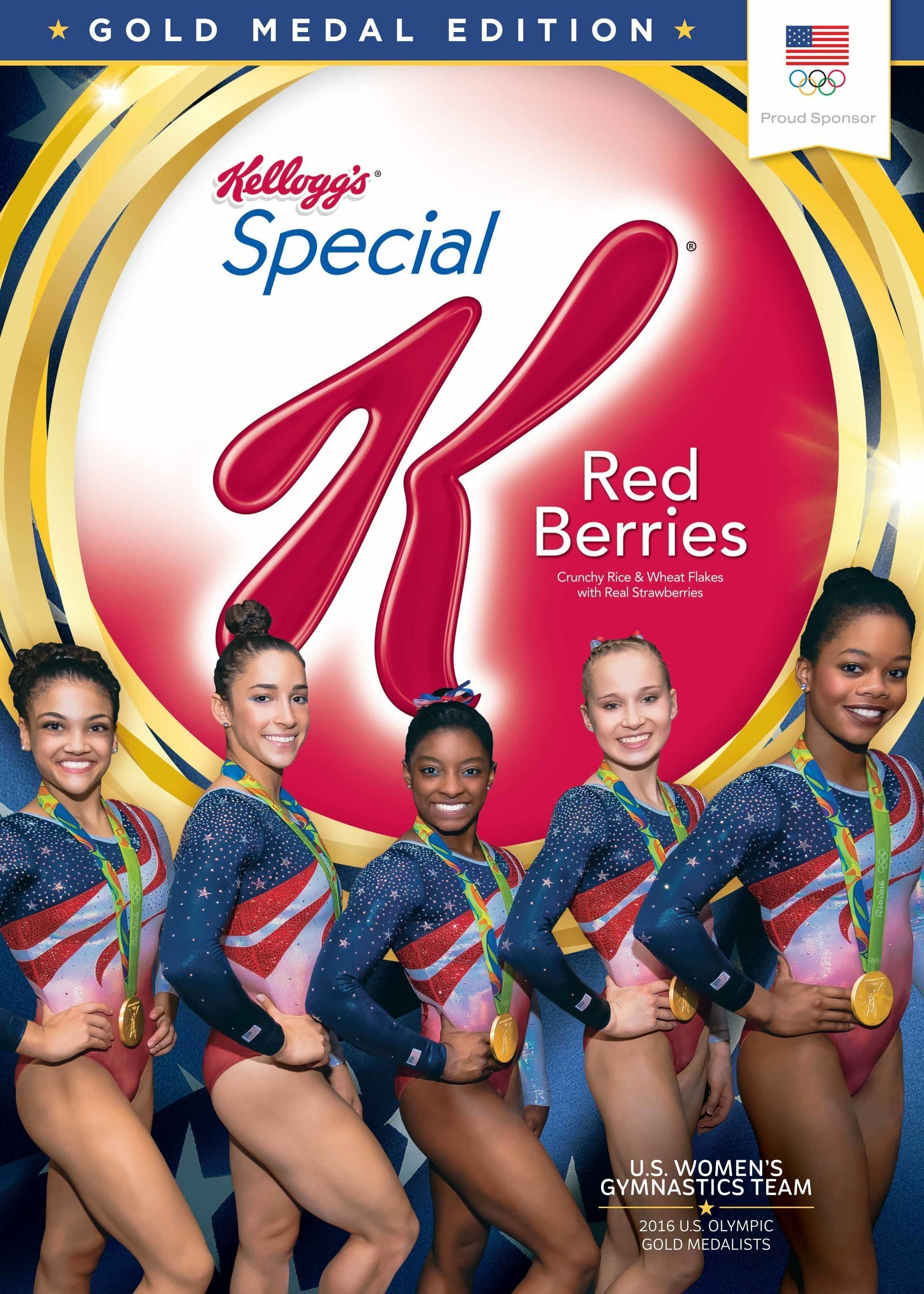 U.S. Gymnastics Team To Adorn Boxes Of Kellogg's Special K Red Berries