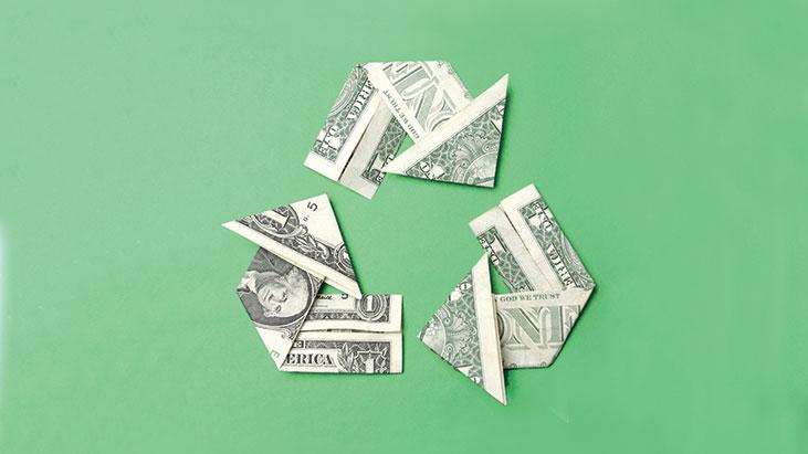 green recycling money