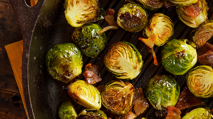 grilled roasted brussels sprouts