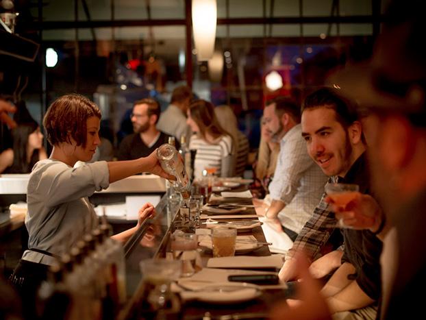 guests bartender drink
