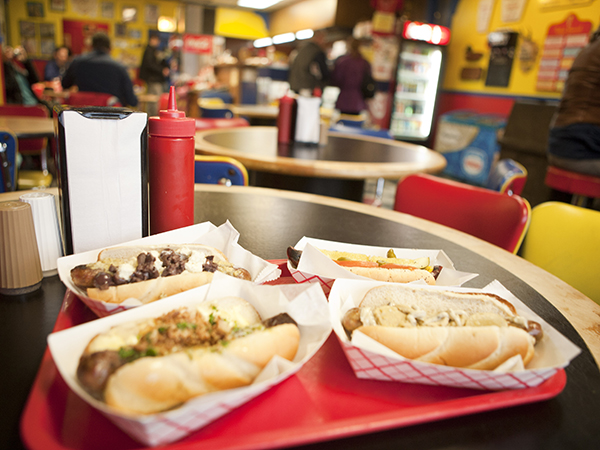 Hot Doug's hotdogs