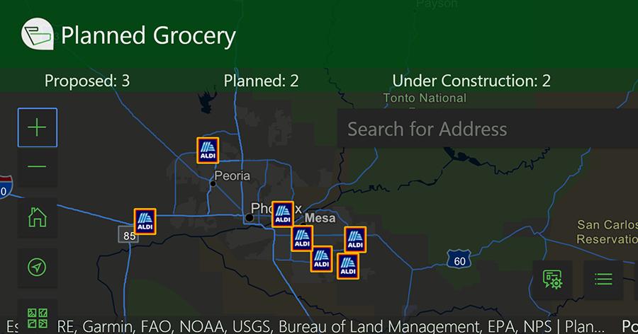aldi arizona planning map