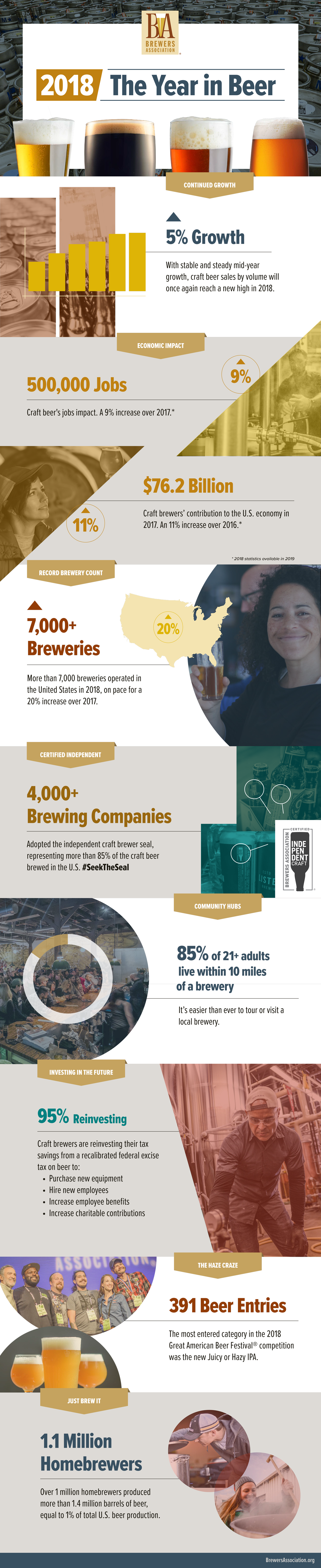 Brewer's Association Year In Review Infographic