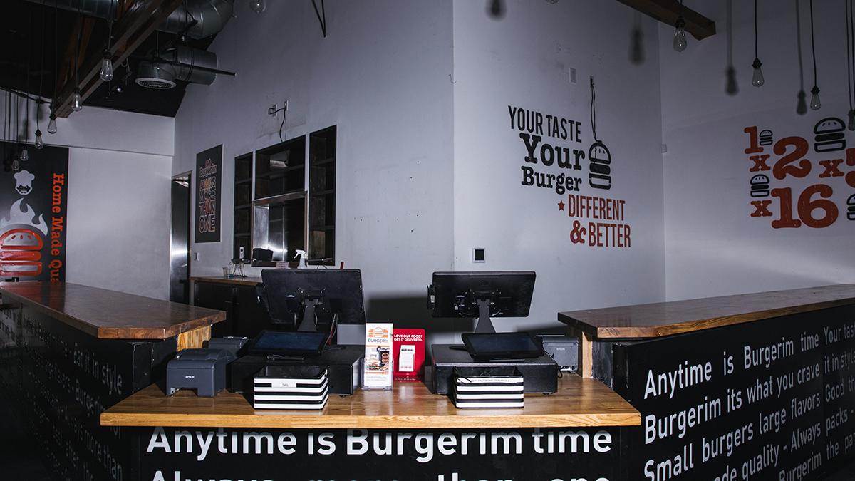 closed burgerim interior