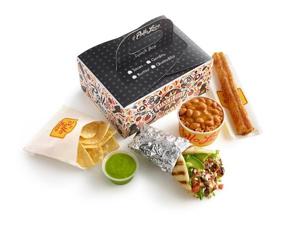 El Pollo Loco boxed lunch
