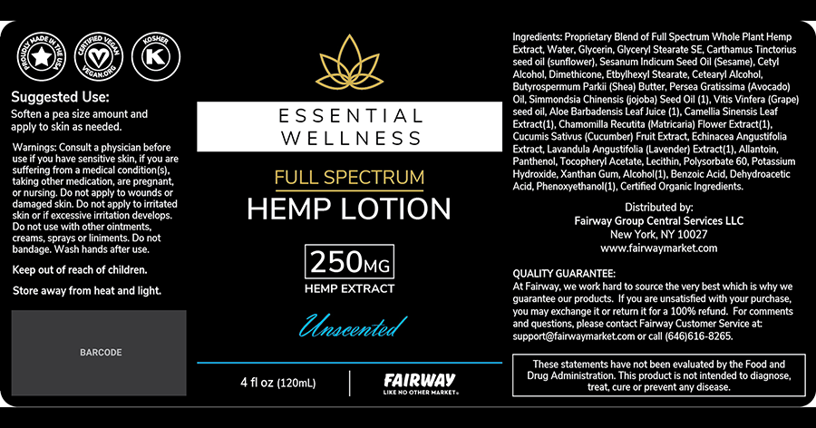 hemp lotion label