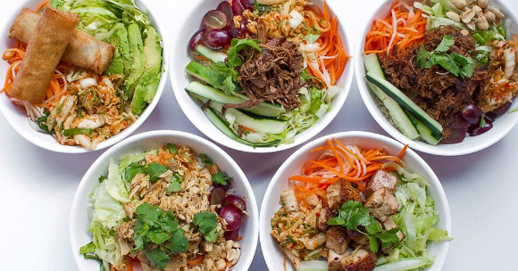 Bowls of food for takeout
