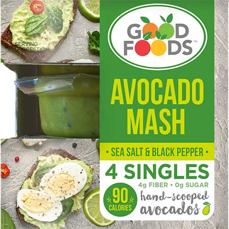 good foods avocado mash