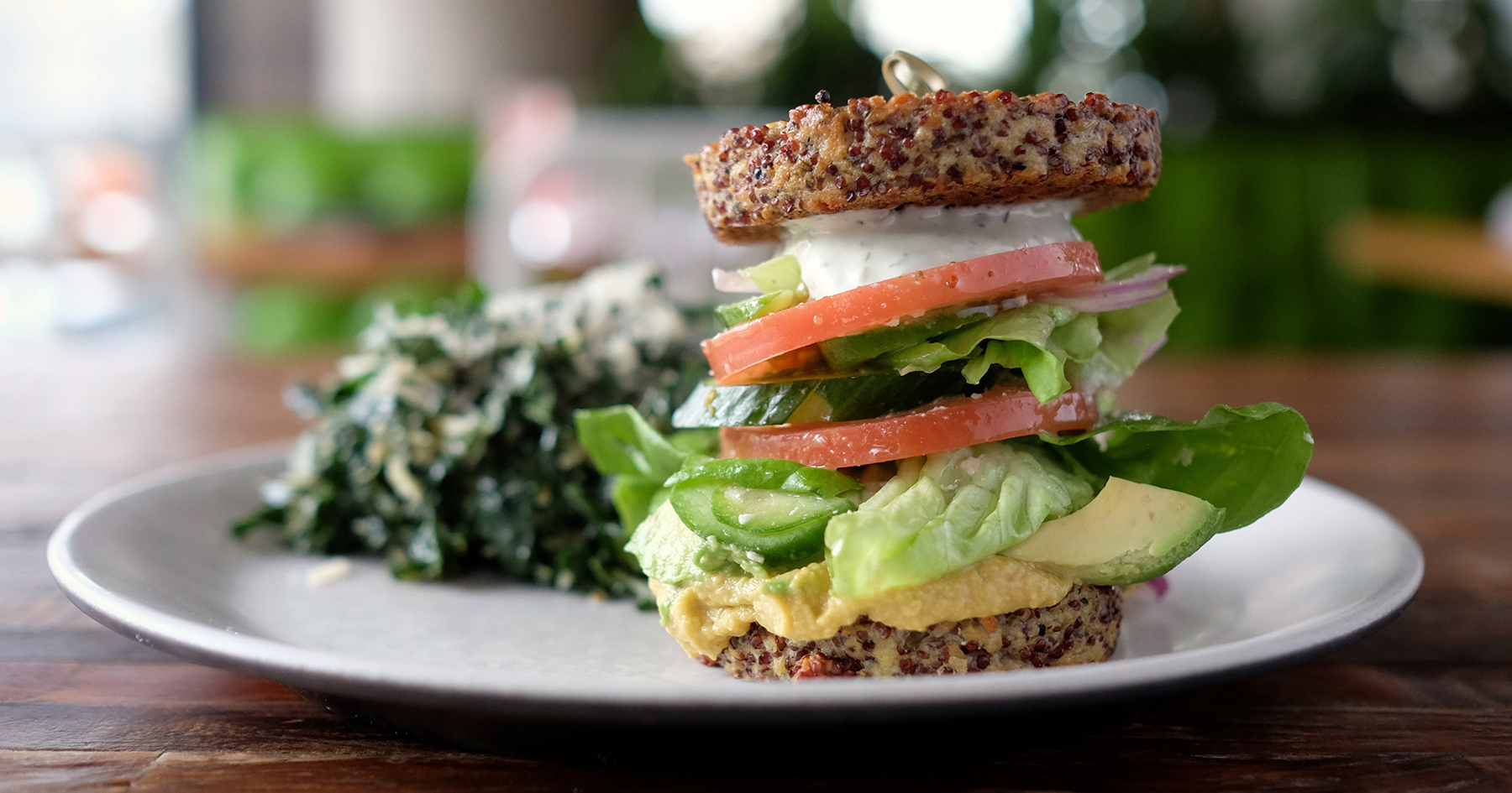 inside out quinoa burger