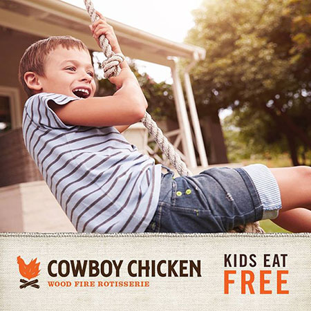 kids eat free cowboy chicken