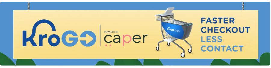 kroger krogo caper smart cart frictionless checkout