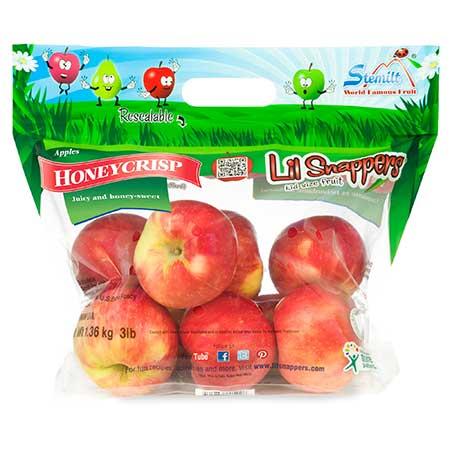 lil snappers honeycrisp apple bag