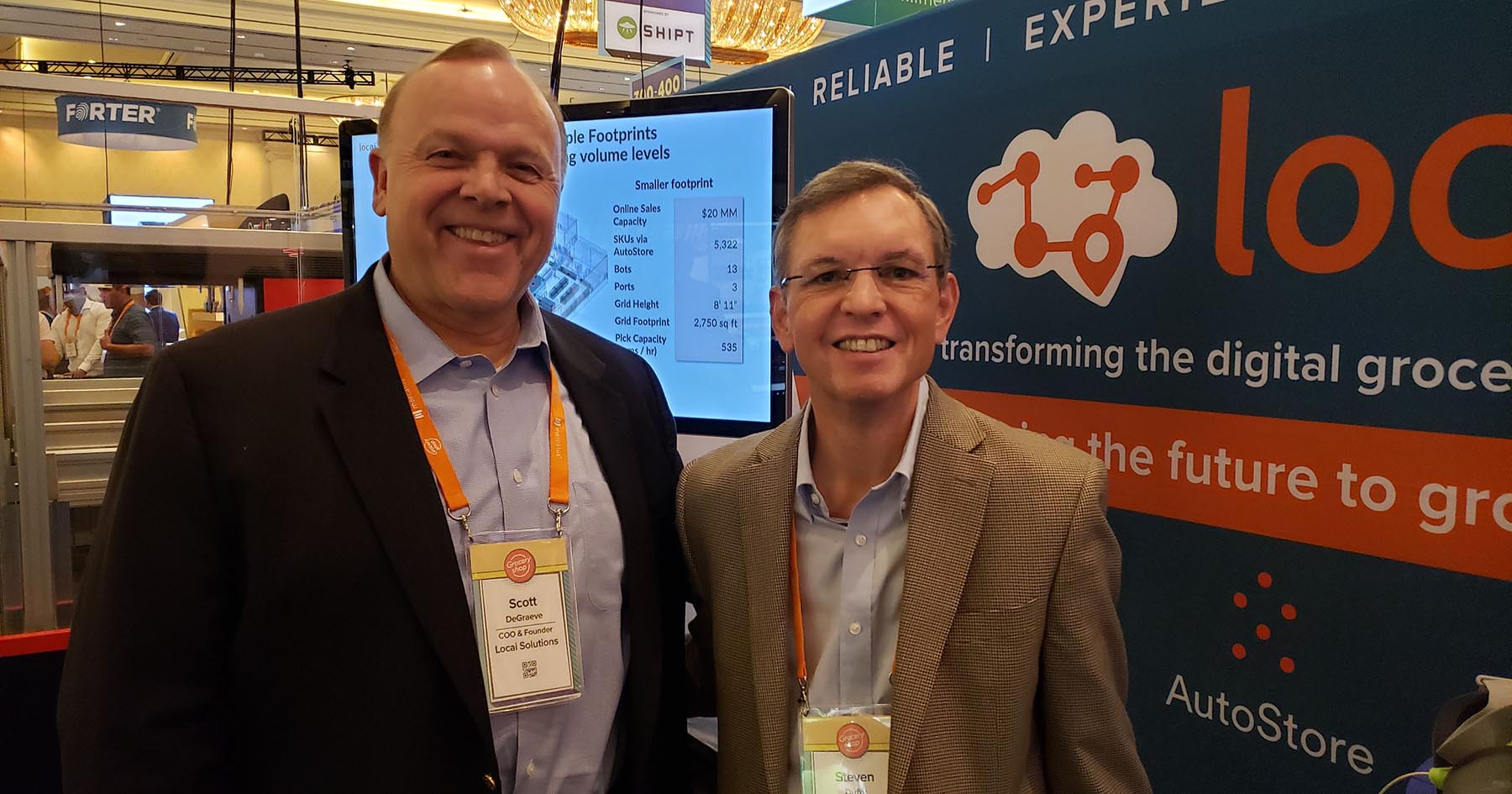 Scott DeGrave of Locai with Steven Duffy of Cuhaci & Peterson
