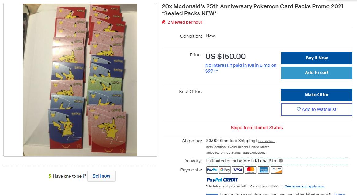 McDonald's Pokemon screenshot