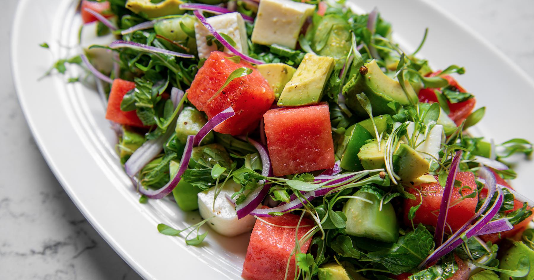 Miami watermelon salad