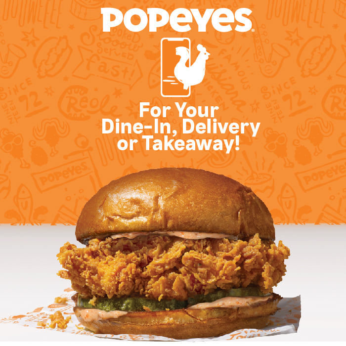 Popeyes Singpore with dark meat