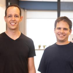 Shopic founders Raz Golan (left) and Eran Kravitz