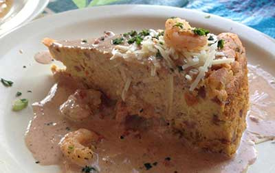 shrimp alligator cheesecake