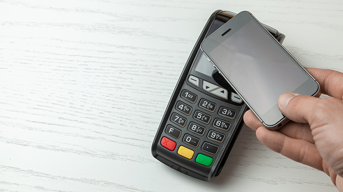 smartphone contactless pay