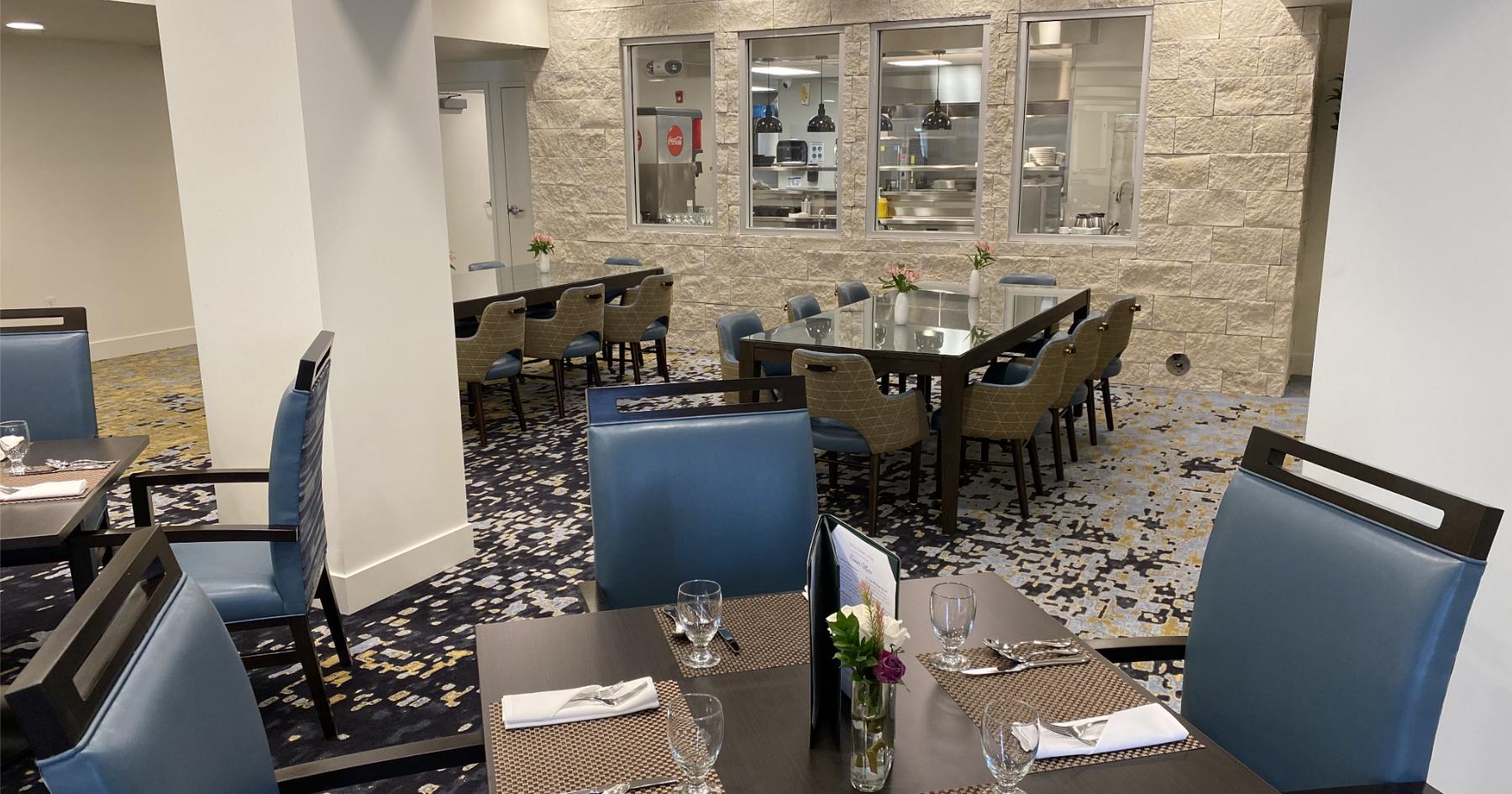 The dining room at Sonrisa Senior Living