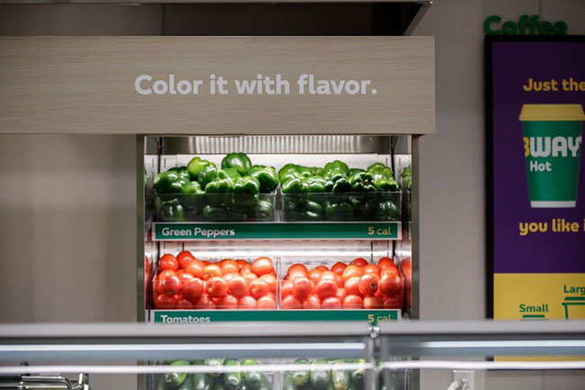 Subway vegetables Fresh Forward