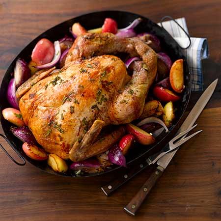 roast turkey apples
