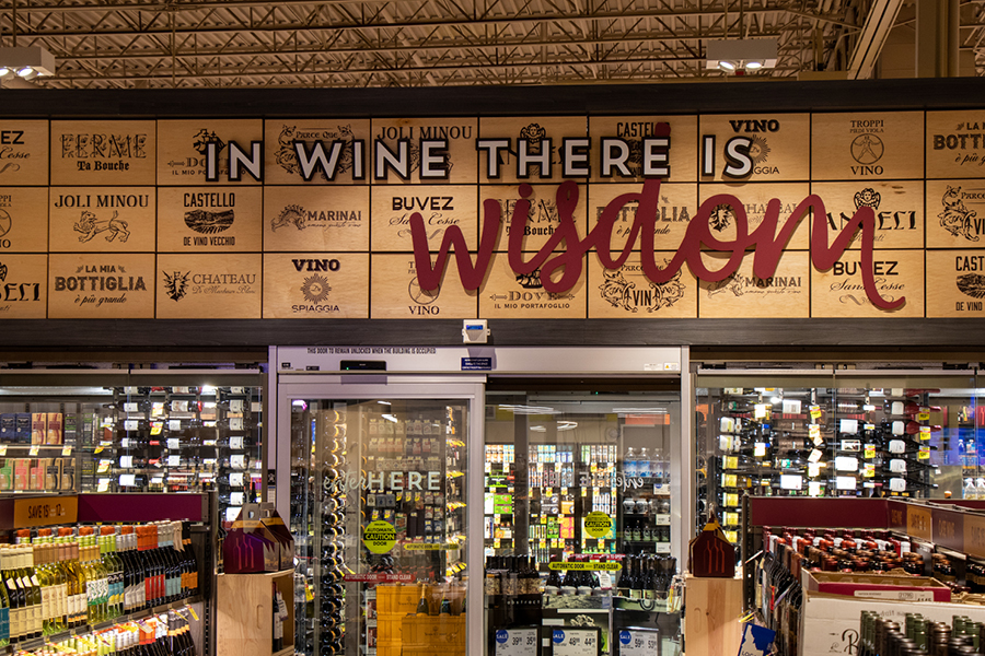 Albertsons wine department