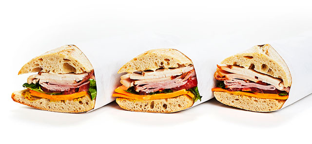 catering wrapped sandwiches