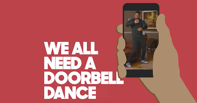 pizza hut doorbell dance
