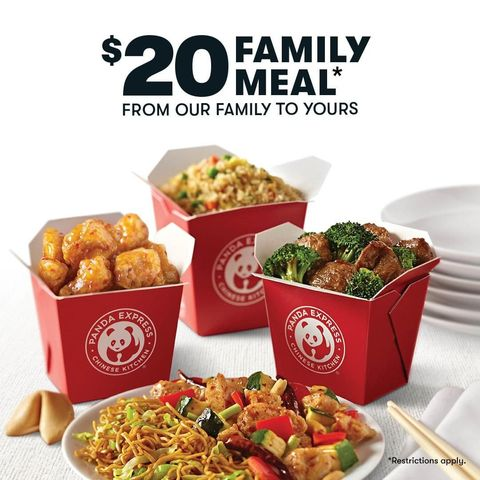 Panda family meal