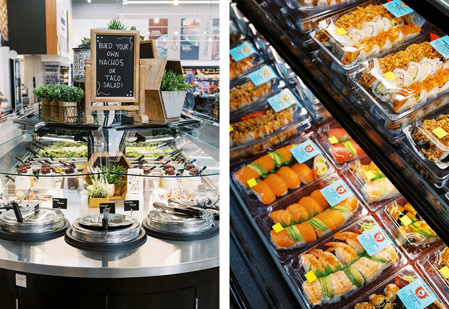 expansive deli and grab-and-go sushi