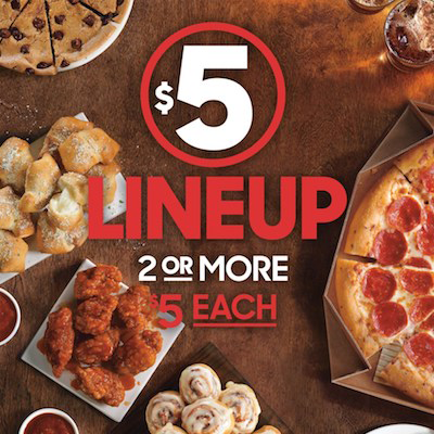 Pizza Hut Has A New 5 Menu