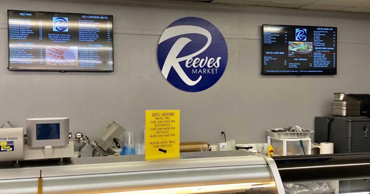 reeve's market menu boards