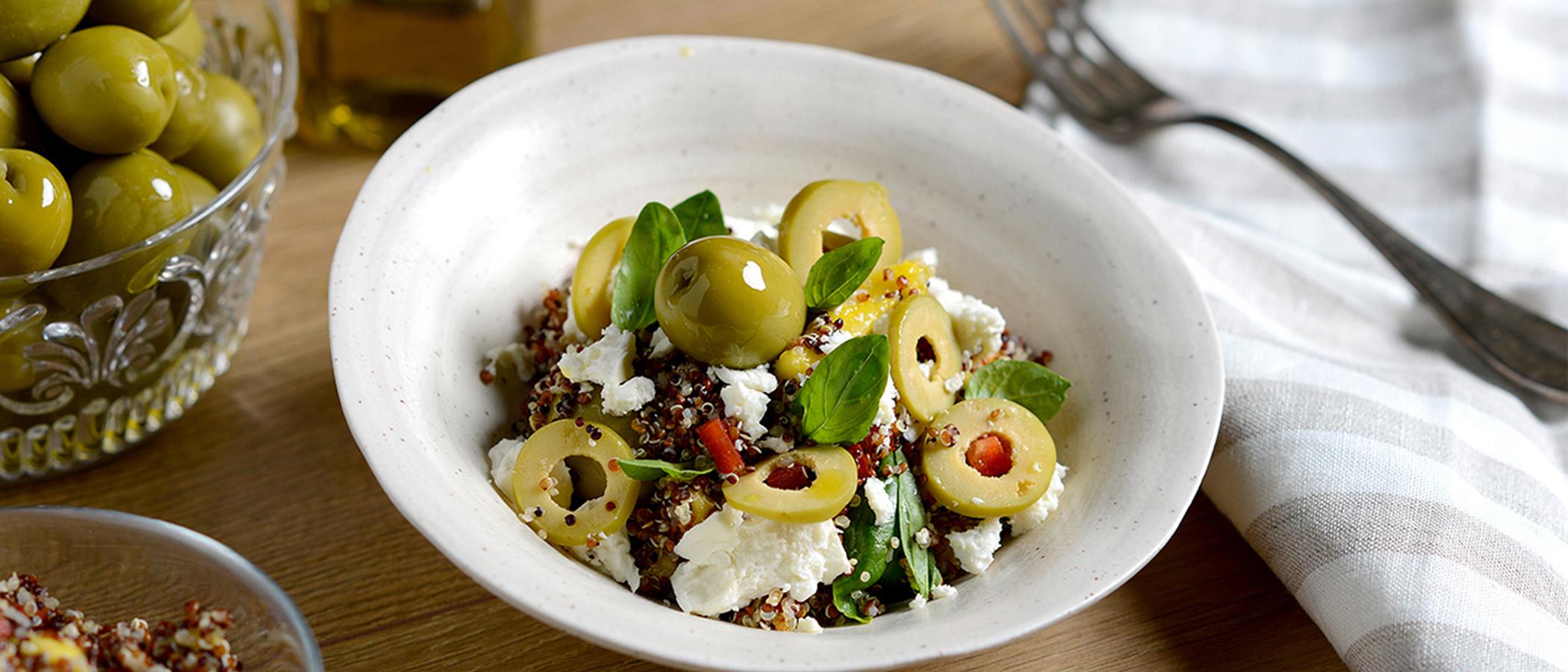 Olive and quinoa salad