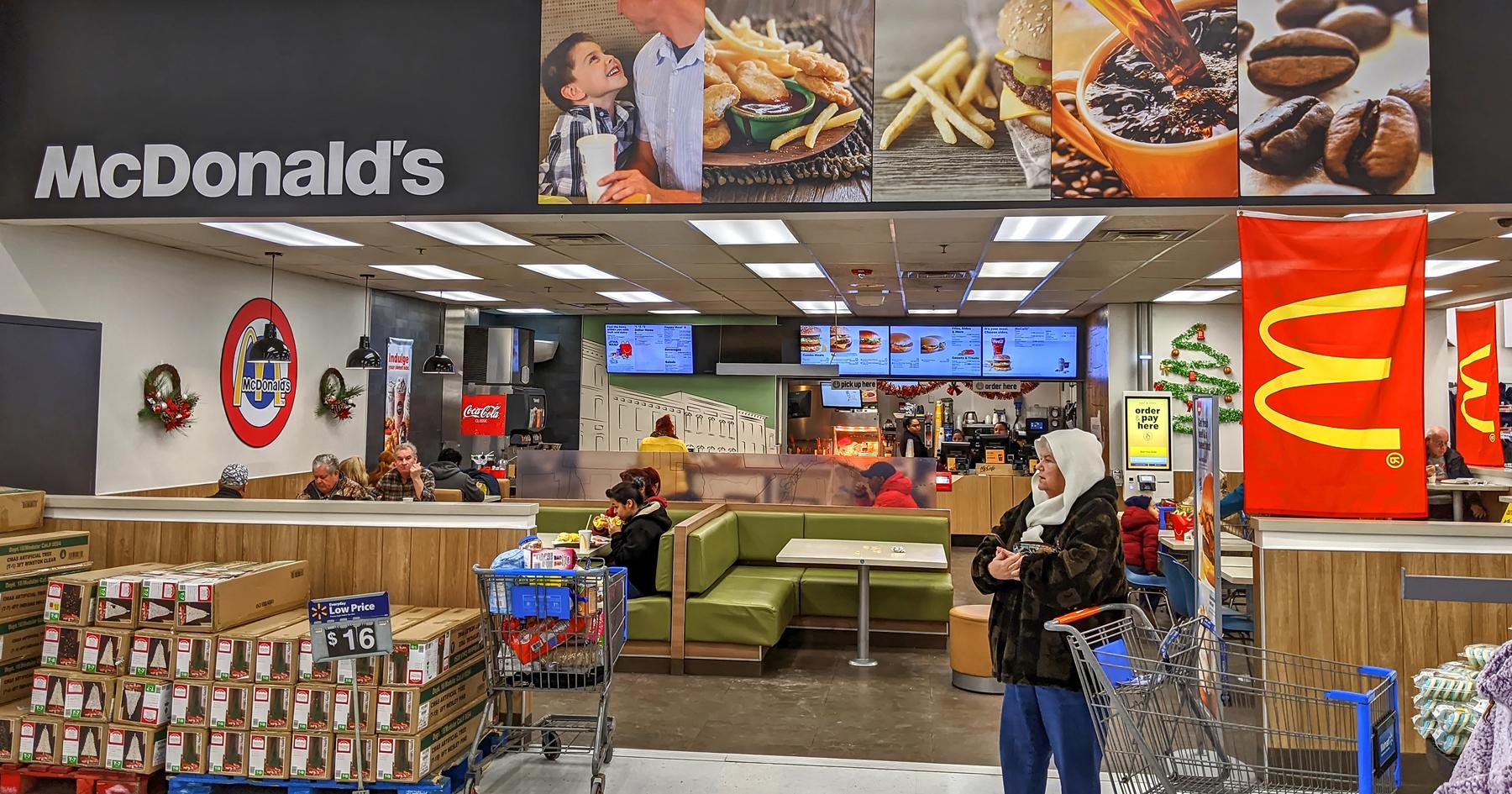 McDonald's Walmart's