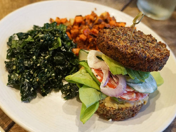 "True Food Kitchen - ""Inside Out"" Quinoa Burger"