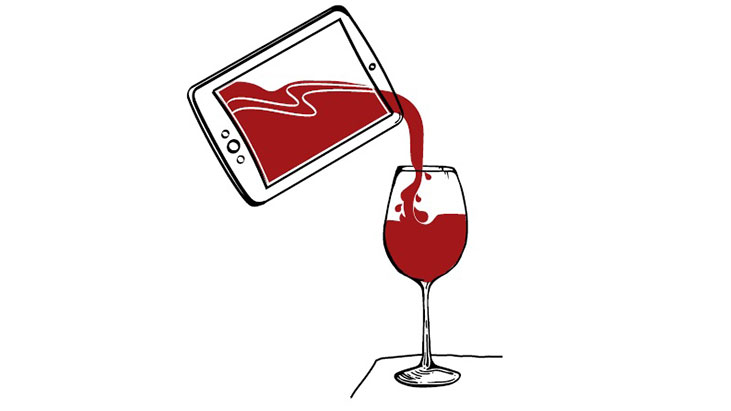 ipad pouring wine