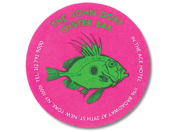 John Dory Oyster Bar drink coaster