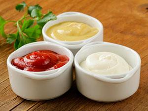 ketchup mayo mustard restaurant dip sauce