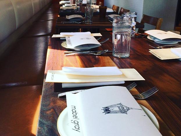 mabel gray table setting