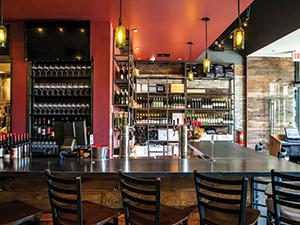 bar wine wall
