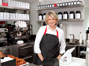 martha stewart in cafe