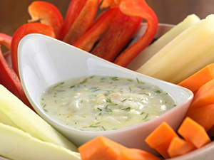 vegetables with dip foodservice healthy menu