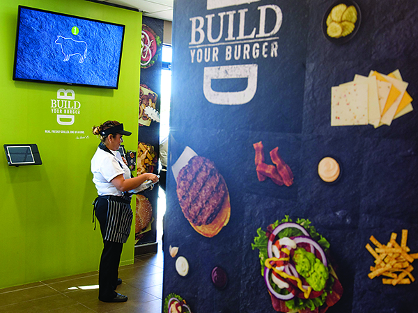 McDonald's build your own burger