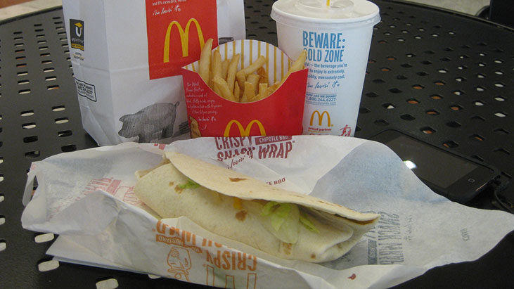 mcdonalds wrap meal